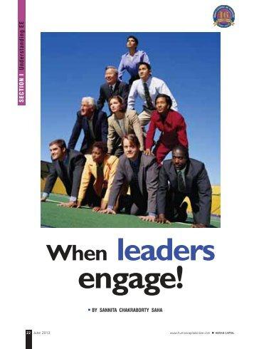 When Leaders Engage - Harvard Business School