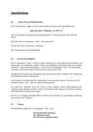 Jugendordnung - Spiel und Sport Waldenau von 1947 eV