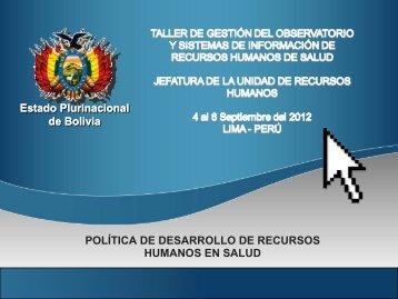 POLÍTICA DE DESARROLLO DE RECURSOS HUMANOS EN ...