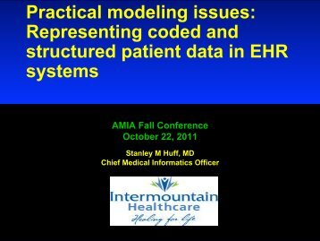 Representing coded and structured patient data in EHR systems