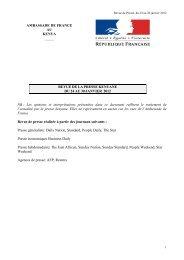 Revue de Presse du 24 au 30 janvier 2012 - Ambassade de France ...