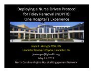 Deploying a Nurse Driven Protocol for Foley Removal