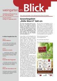 Ausgabe 20/2013 - Weingarten im Blick
