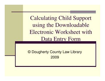 Printables Child Support Worksheet Ga child support worksheet and schedules pdf instructions city of albany georgia