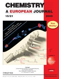 Cover Picture: Controlling the Chair Conformation of a ...