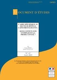 DE2009-L'aide spécifique au secteur Hôtels-Cafés-Restaurants (pdf ...