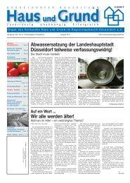 Ausgabe 08/11, PDF, 3.7 MB - Haus und Grund Düsseldorf