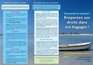 Emportez vos droits dans vos bagages - Centre Européen de la ...