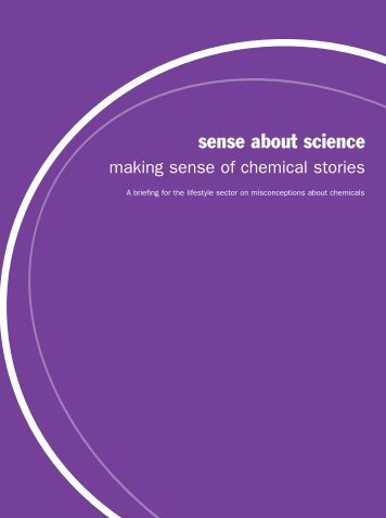 Making Sense of Chemical Stories [PDF] - Sense about Science