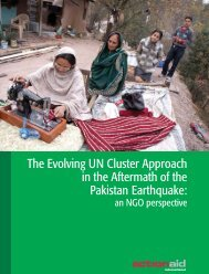 The Evolving UN Cluster Approach in the Aftermath of ... - ActionAid