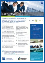 AIC TechFast® - The Australian Institute for Commercialisation