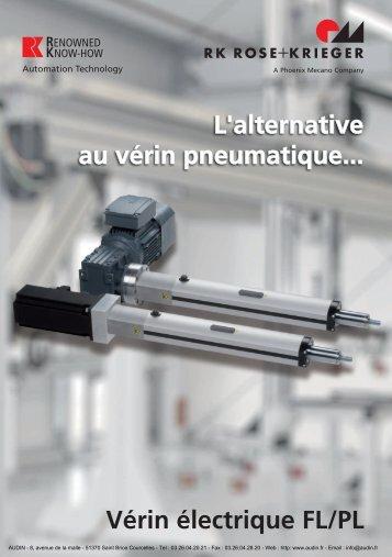 Vérins électriques FL/PL (PDF/1,35Mo) - Audin