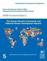 NHDR Occasional Paper 5 - Human Development Reports - United ...
