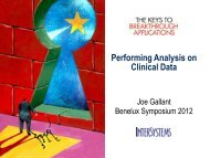Performing Analytics on Your Clinical Data - InterSystems Benelux
