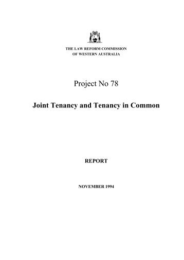 November 1994 - Law Reform Commission of Western Australia