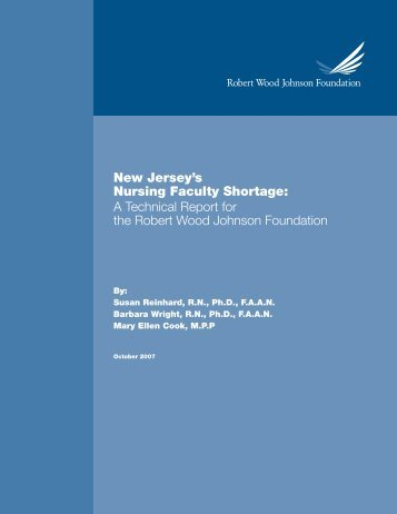 New Jersey's Nursing Faculty Shortage: A Technical Report for the ...