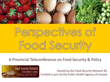 presentation on food security - The Food Security Network of ...