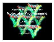 Molecular Programming - Luca Cardelli