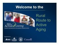 What is Active Living? - Onehealth.ca