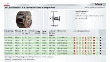 Schleiffächer aus Schleifleinen mit Gewinde - LUKAS-ERZETT