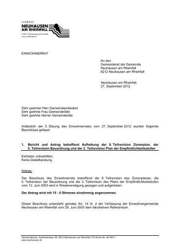 kurz 27.09.2012(PDF) - Gemeinde Neuhausen am Rheinfall