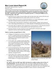 Mon Louis Island Report #4 - Mobile Bay National Estuary Program