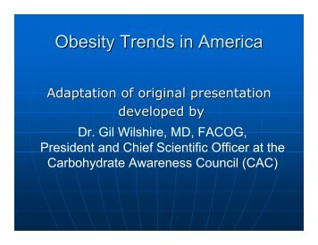 Obesity Trends in America - Nutrition and Metabolism Society