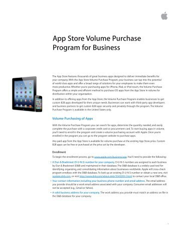 App Store Volume Purchase Program for Business