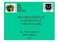 Ako organizovať a archivovať v MS Outlook