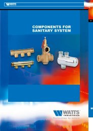 COMPONENTS FOR SANITARY SYSTEM - Watts Industries