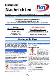 LäuferInnen Nachrichten Juni 2010 - Team Klinikum Nürnberg