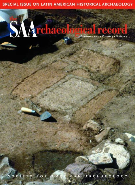 SAAarchaeologicalrecord - Society for American Archaeology