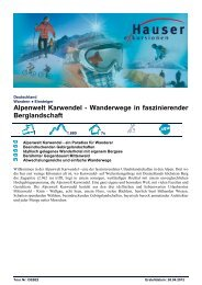 Alpenwelt Karwendel - Wanderwege in ... - Hauser exkursionen