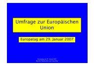 Umfrage zur Europäischen Union