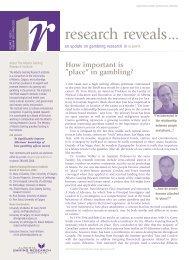Issue 3, Volume 2 - Feb / Mar 2003 - Alberta Gambling Research ...