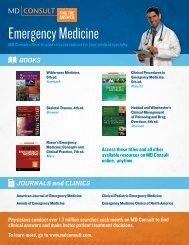 MD Consult Emergency Medicine Flyer