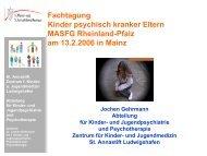 Fachtagung Kinder psychisch kranker Eltern MASFG Rheinland - ism