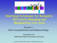 Relational Databases for Biologists - Bioinformatics and Research ...
