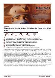 Glanzlichter Jordaniens - Wandern in Petra und Wadi Rum