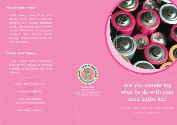 Are you wondering what to do with your used batteries? - Recycle More