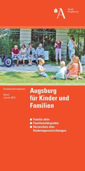 Flyer 01/2013 - Kinderbetreuung in Augsburg - Stadt Augsburg