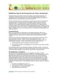 Didaktische Tipps für die Grundschule zum Thema ... - Baobab
