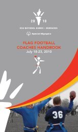 Flag Football Quick Start Guide - Special Olympics Georgia