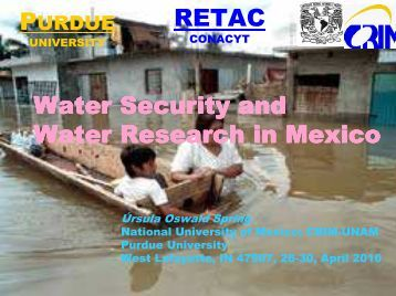 Purdue Water security and water Research in Mexico