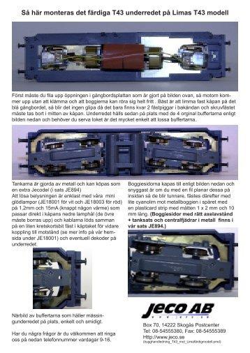 Så här monteras det färdiga T43 underredet på Limas ... - MJ Hobby