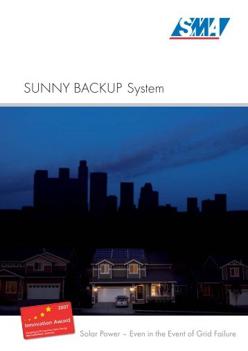 Sunny Backup System - Energy Matters