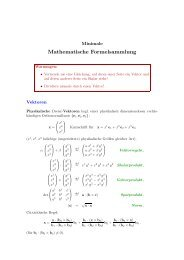Mathematische Formelsammlung - Wolfgang-luecke.de