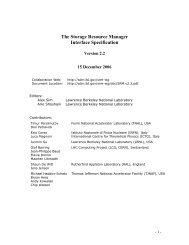 The Storage Resource Manager Interface Specification - SDM ...