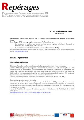 Repérages n°12 - Carif Oref Midi-Pyrénée