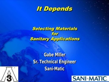 Materials - 3-A Sanitary Standards